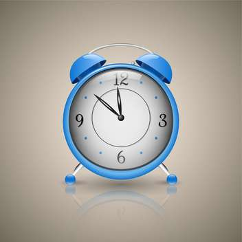 Classic blue alarm clock vector illustration - Kostenloses vector #130972