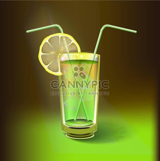 Zitrone Saft trinken-Vektor-illustration - Free vector #130992