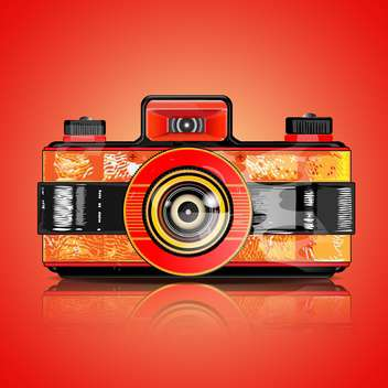 Vector retro camera illustration - Free vector #131062
