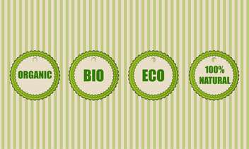 Collection of eco organic icons - Free vector #131152