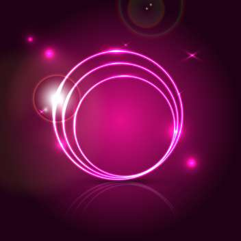 Pink round shapes on black vector background - vector gratuit #131192