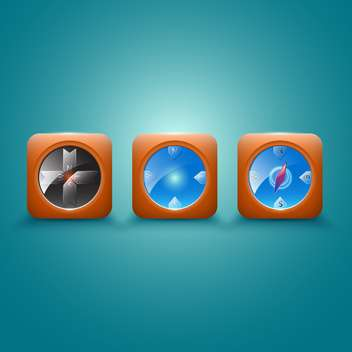 Compass vector icons illustration - Free vector #131202