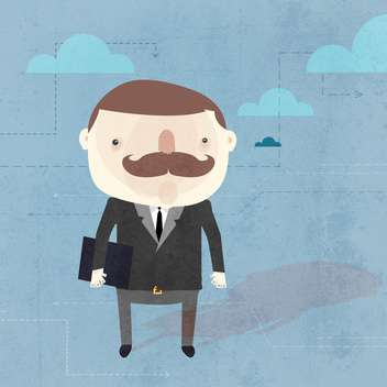 Vector grunge background with businessman - vector #131222 gratis