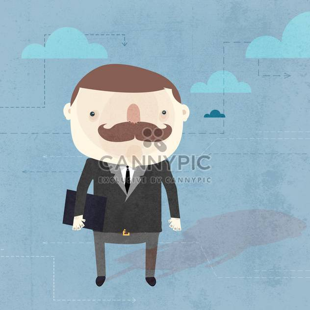 Vector grunge background with businessman - Free vector #131222