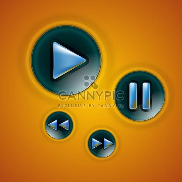 Multimedia-Tasten-Schnittstelle-Vektor für Web-design - Free vector #131312
