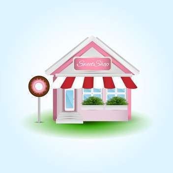 Cute donut shop vector illustration - Free vector #131322