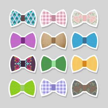 Cute set with bows vector illustration - бесплатный vector #131362