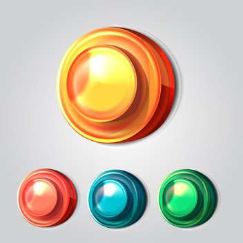 Set of four vector buttons on grey background - vector gratuit #131402