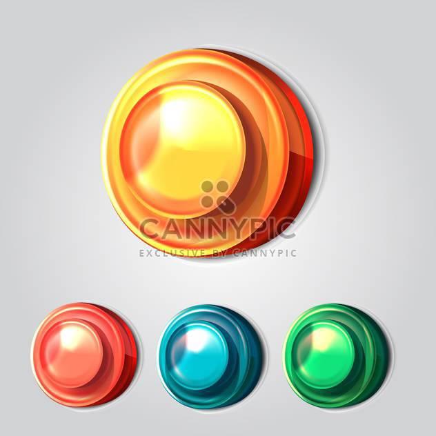 Set von vier Vektor Buttons auf grauen Hintergrund - Kostenloses vector #131402