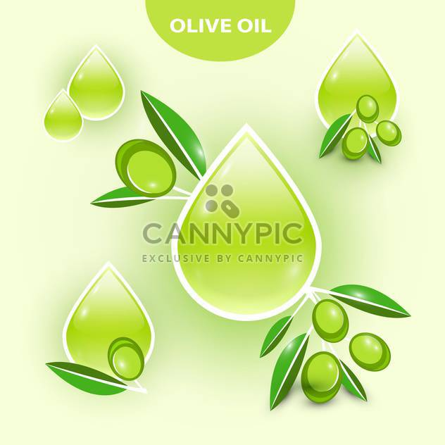 Icon of vector olive oil illustration - Free vector #131522