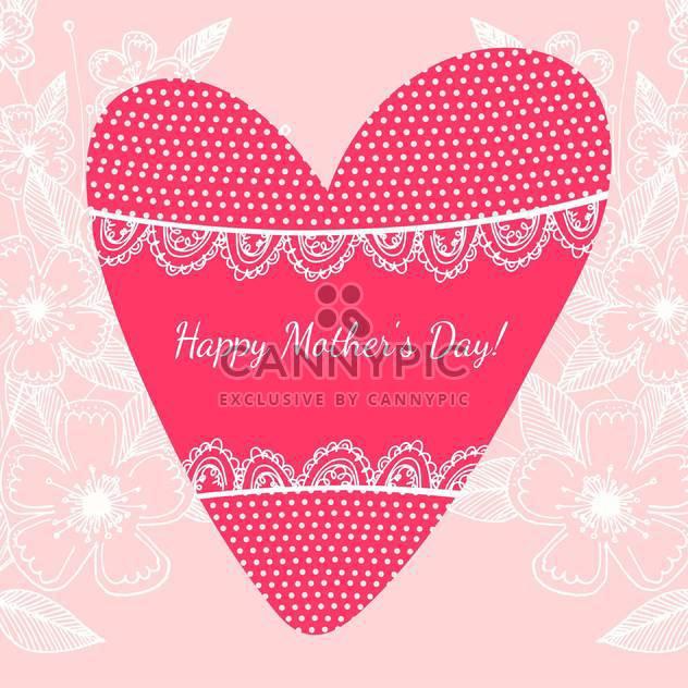 Glückliche Mutter Tag-Hintergrund-Vektor-illustration - Kostenloses vector #131542