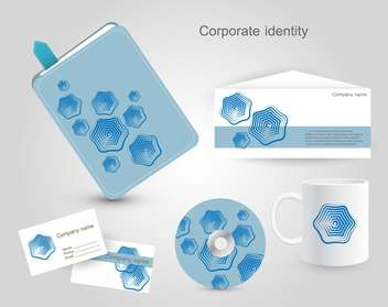 Professional corporate identity kit - Free vector #131552