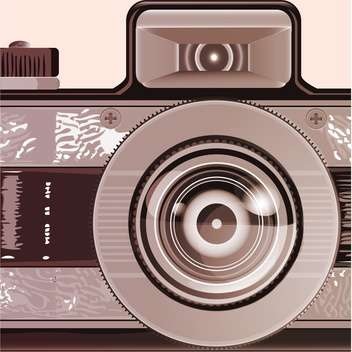 Vintage photo camera illustration - Free vector #131612