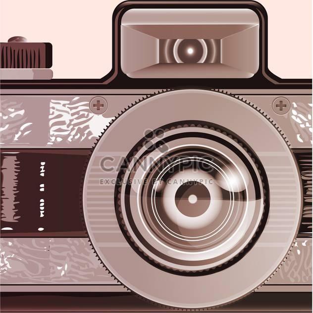 Vintage photo camera illustration - Free vector #131612