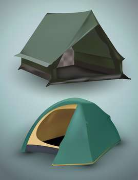 Vector illustration of tourist tents - vector gratuit #131712