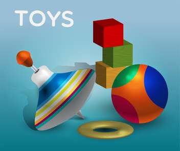 Vector illustration of different toys - vector gratuit #131752