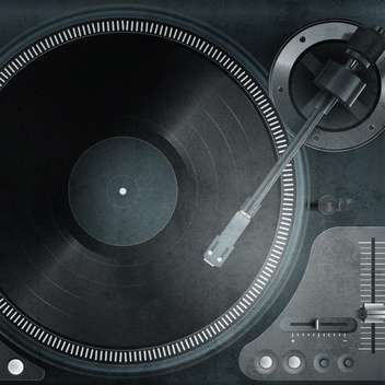 Vector illustration of a turntable with vinyl record - vector gratuit #131772