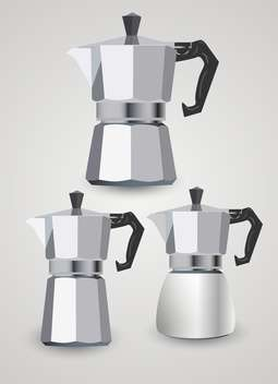 Vector set of different coffee pots - Free vector #131822