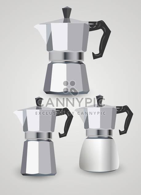 Vektor-Satz von verschiedenen Kaffeekannen - Kostenloses vector #131822