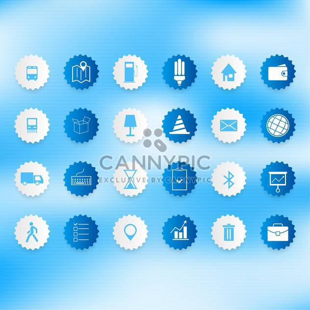Set of icons on a theme communication vector illustration - Free vector #131972