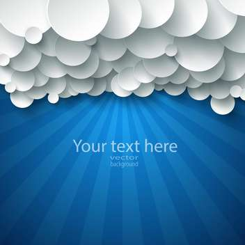 Vector abstract background composed of white paper clouds over blue. - Free vector #132022