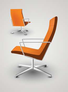 Office armchair vector collage on white background - vector gratuit #132032