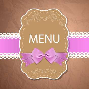 Vector restaurant menu design on brown craft paper background - vector gratuit #132112