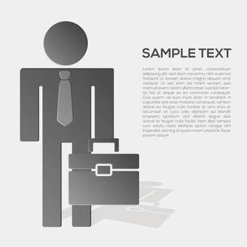 Vector business person in formal suit with place for text - vector gratuit #132182