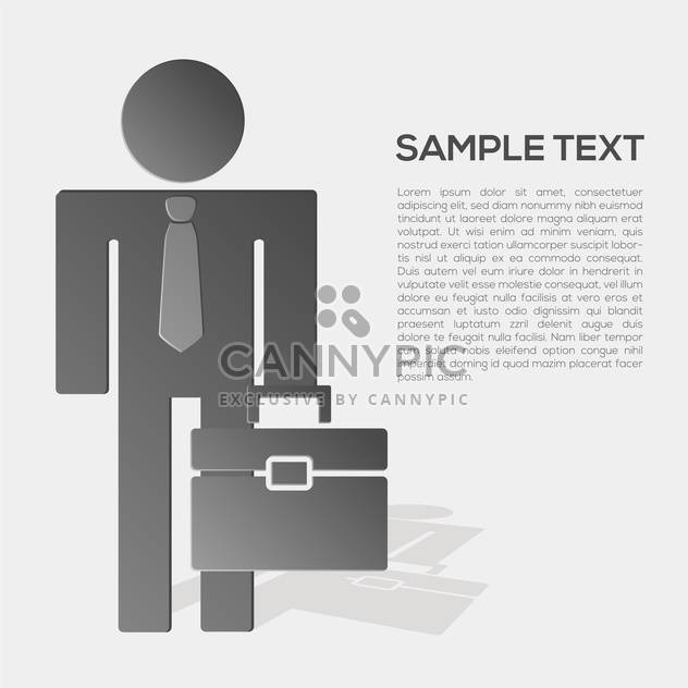 Vector business person in formal suit with place for text - Free vector #132182