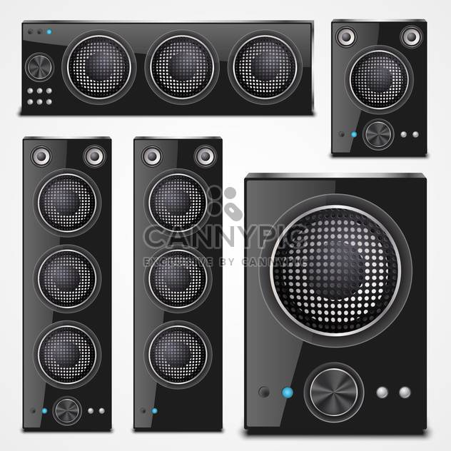 Sound speaker set on a white background - Free vector #132192