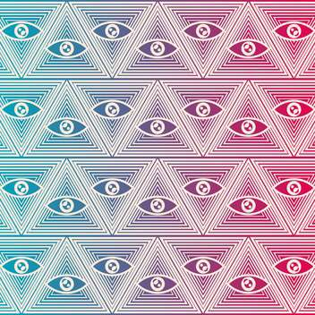 Seamless vector background with eyes - Free vector #132202