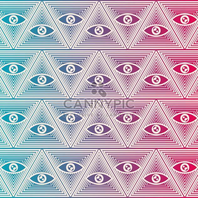Nahtloser Vektor Hintergrund mit Augen - Free vector #132202