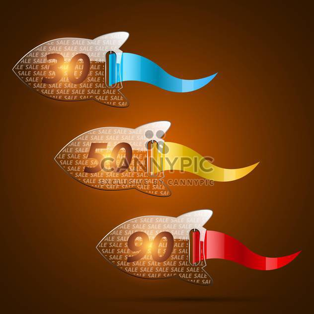Set of colorful sale vector labels - Free vector #132212