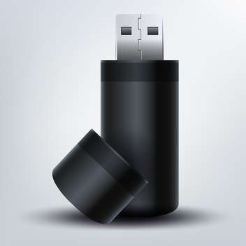 USB flash drive on gray background,vector illustration - Kostenloses vector #132272
