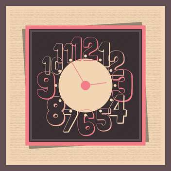 Vector vintage clock,vector illustration - бесплатный vector #132302