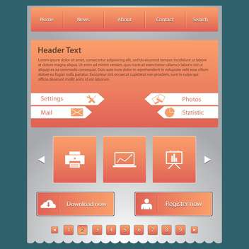 Web site design template, vector illustration - vector gratuit #132322