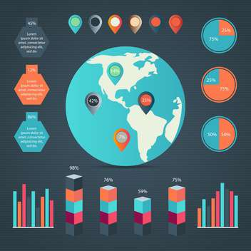 Business infographic elements,vector illustration - Free vector #132342