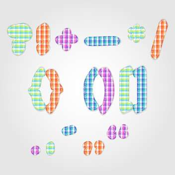 old fashioned colorful punctuation marks,vector illustration - vector #132352 gratis