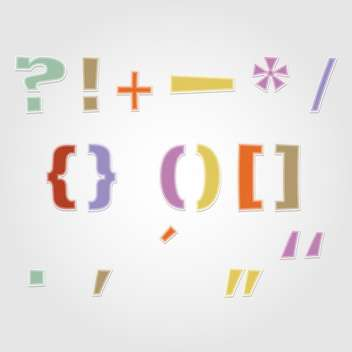 colorful punctuation marks,vector illustration - vector gratuit #132362