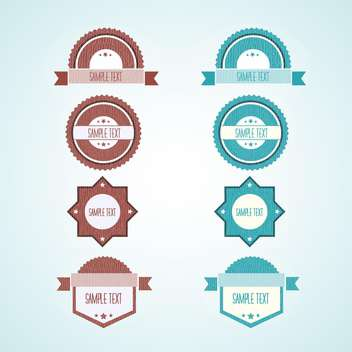 Set of vector vintage labels - 8 different items - vector gratuit #132382