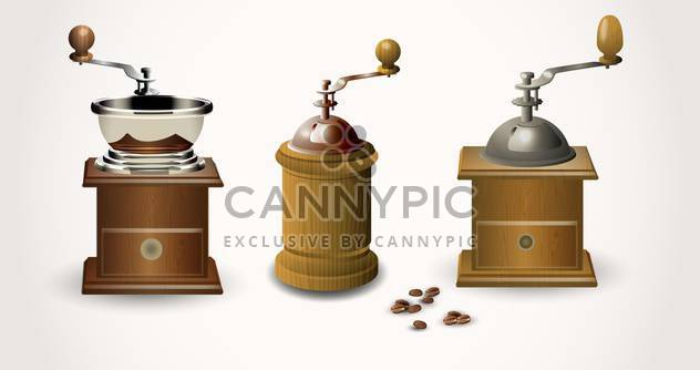 Alte Kaffeemühlen, Vektor-illustration - Kostenloses vector #132412