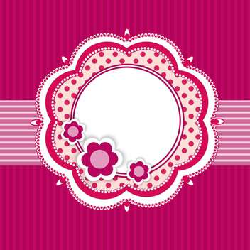 Vector floral frame on purple background - vector gratuit #132472