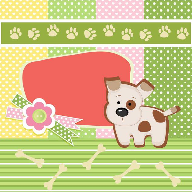 vector card background with dog - vector gratuit #132492