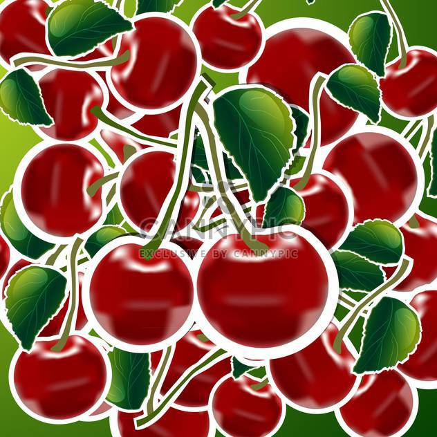 sweet ripe cherries background - Free vector #132512