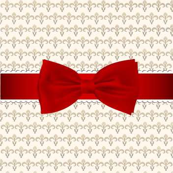 retro background with red bow - vector #132542 gratis