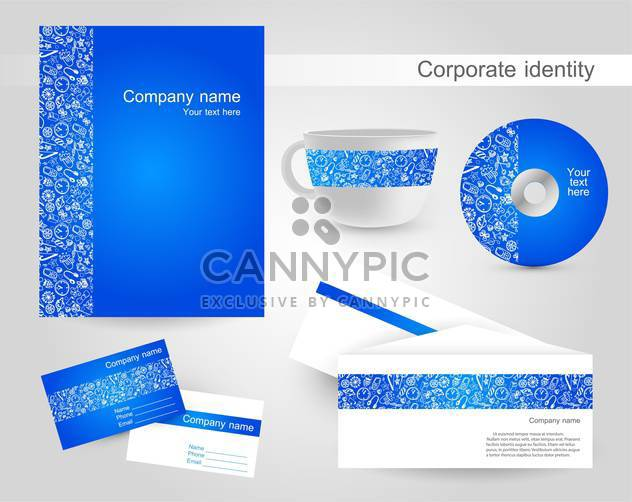 corporate identity vector labels set - Free vector #132552