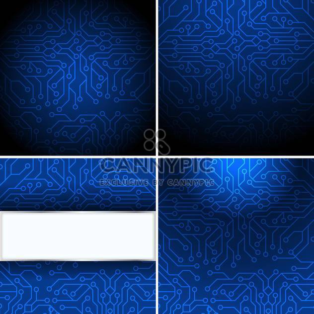 blue microchip computer background - Free vector #132572