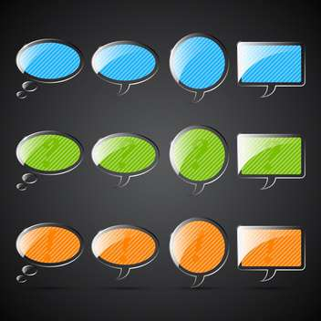 web blank speech buttons set - vector gratuit #132582