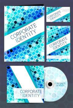 corporate identity business labels set - vector gratuit #132602