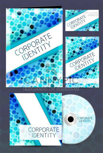 corporate identity business labels set - Free vector #132602